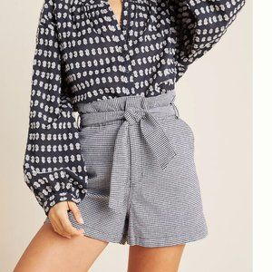 NWT anthropologie ryan gingham paperbag shorts